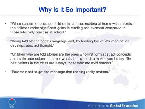 why is it so important yew chung international of beijing reading at home