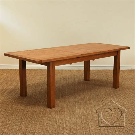 heritage rustic oak 230 280 extending dining table 163 599