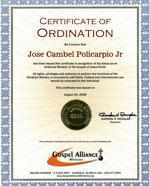 ordination certificate template pin ordination certificate templates pictures on