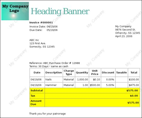 gnucash invoice template 13 3 accounts receivable