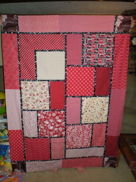 Easy Big Block Quilt Patterns Free by Arkansas Razorback Quilt