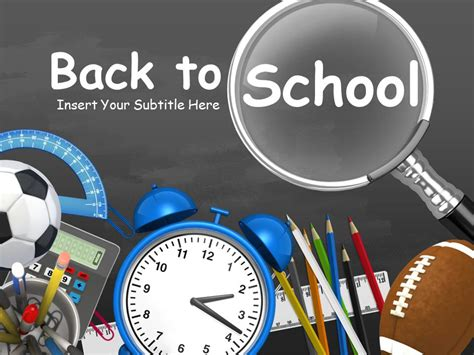 Back To School Toolkit A Powerpoint Template From Presentermedia Com Back To School Powerpoint Template