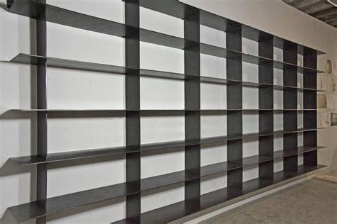Home Decor Material Custom Minimal Blackened Steel Shelves By Mato