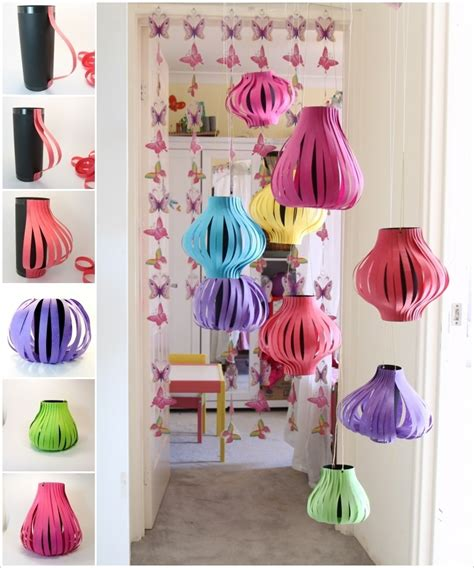 diy paper lanterns for outdoor decoration