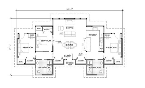 One Story House Blueprints Log Home Floor Plans One Story