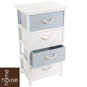 buy house home white wooden four drawer unit at home bargains