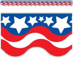 Star Stickers For Walls patriotic scalloped border trim tcr4158 teacher