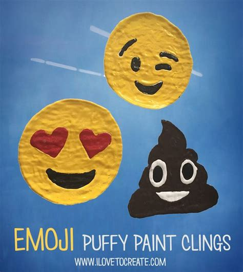 paint emoji how to make puffy paint emoji window clings puffy paint