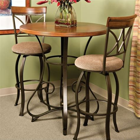 Bar Height Bistro Table Pub Table Bar Counter Height Cherry Wood Bronze Metal Bistro Kitchen Furniture Ebay