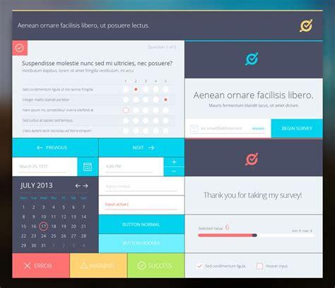 app design questionnaire ui theme for survey web flat design pinterest flats