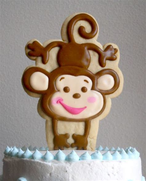 Monkey Cookie Cutter Baby Shower by Best 25 Monkey Cakes Ideas On Monkey Cupcakes