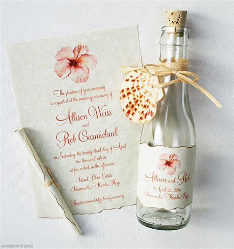 tropical bottle invitations mospens studio