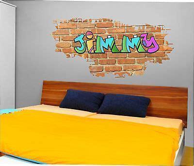 personalised graffiti brick  wall art stickerdecal
