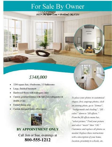 templates for house for sale by owner flyers 10 best images about free flyer templates microsoft word