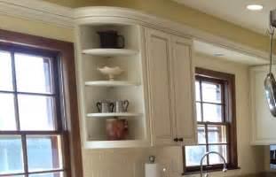 Davis company curved corner cabinet