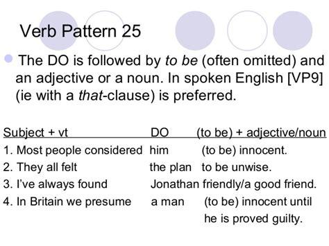verb pattern consider verb patterns