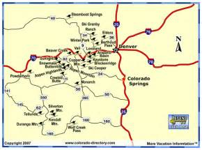 colorado resort map map of colorado resorts