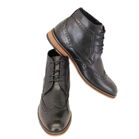 mens boots high mens boots voeut brogue chelsea dealer shoes high ankle