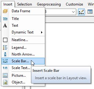 arcgis layout view scale arcgis desktop gis scale bar in arcmap geographic