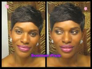 how to weve hair 28 peice sensual 28 pieces pixie cut custom wig quickweave youtube