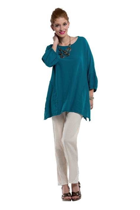 Tunik Top Blouse Hq oh my gauze circus blouse lagenlook tunic top 100 cotton ebay