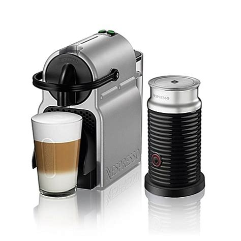 bed bath and beyond nespresso nespresso 174 by de longhi inissia espresso maker bundle with