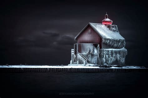 snow glow michigan in pictures