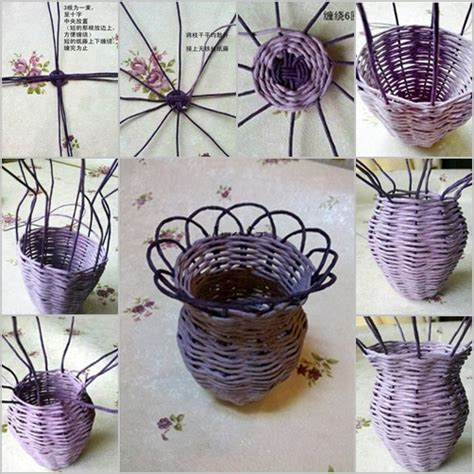 Make A L Out Of A Vase by How To Diy Woven Flower Vase From Paper Roll