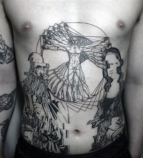davinci tattoo 50 vitruvian designs for da vinci ink ideas