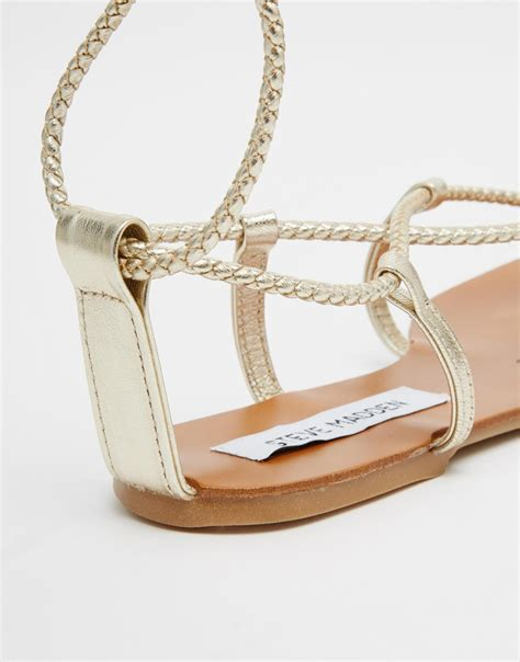 Steve Madden Zach Gold by Steve Madden Werkit Gold Tie Up Sandals In Metallic Lyst