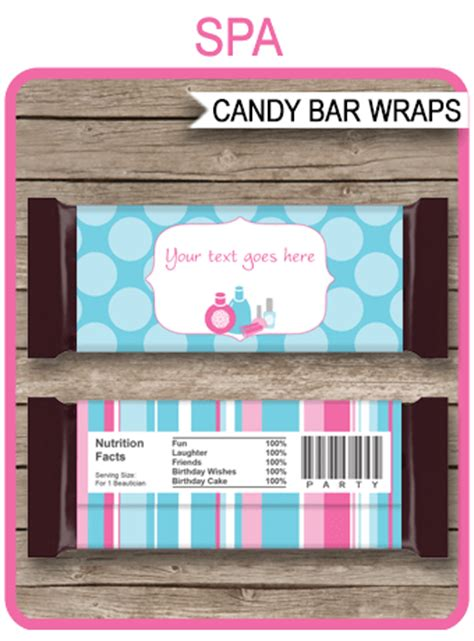 custom bar wrapper template spa hershey bar wrappers personalized bars