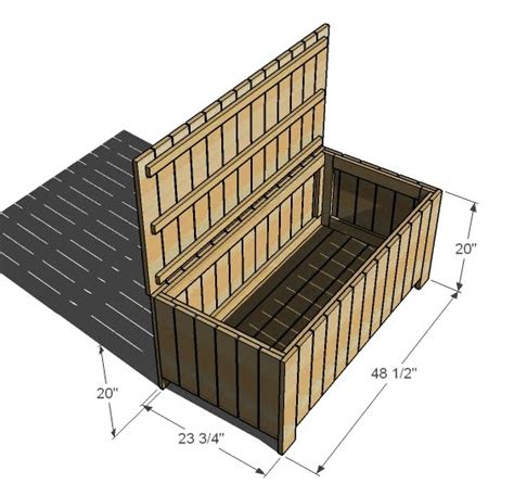 build outdoor storage bench ana white outdoor storage bench diy projects