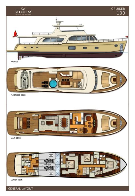 layout yacht layout of the new 100 cruiser motor yacht by vicem yachts