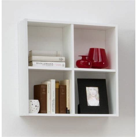 163 19 97 Bari Four Compartment Wall Mounted Shelf Unit For White Wall Mounted Shelves