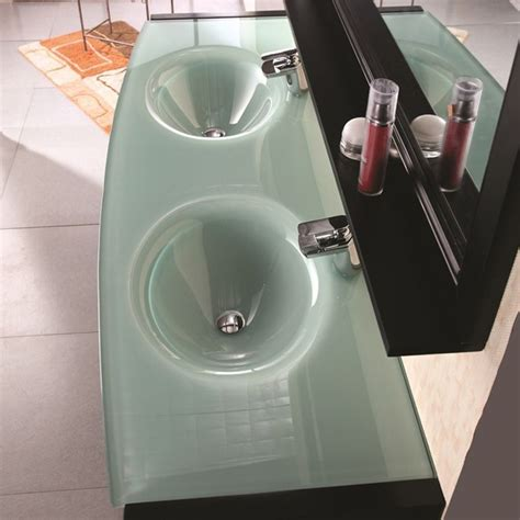 tempered glass vanity top with integrated sink tempered glass vanity top with integrated sink amazing