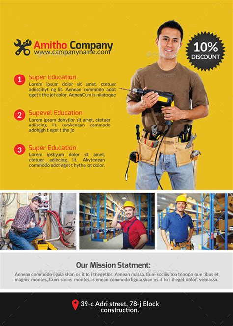13 best handyman flyer templates designs free