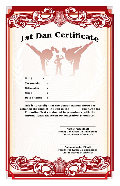 karate black belt certificate templates print design by anthony sell at coroflot