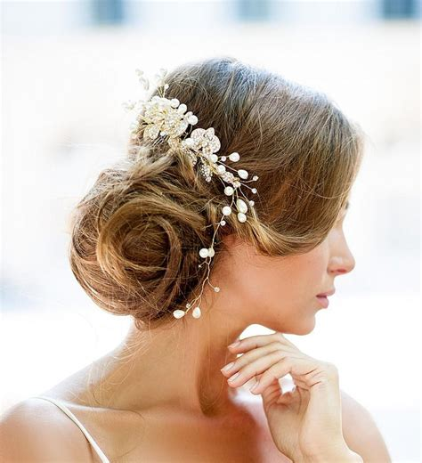 Wedding Hair Pieces by Dazzling Wedding Hair Gold Vine Hair