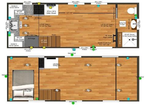 boonville 24 tiny house plans tiny house design nido micro cabin floor plan