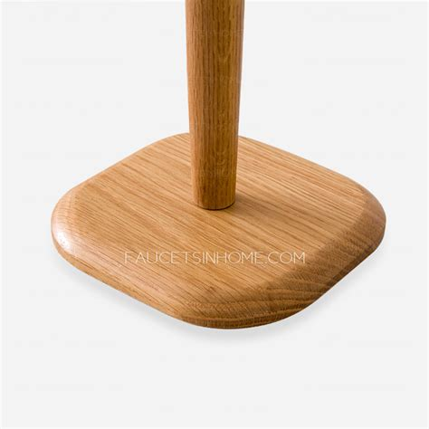 wooden toilet paper holder unique bathroom freestanding wooden toilet paper holder
