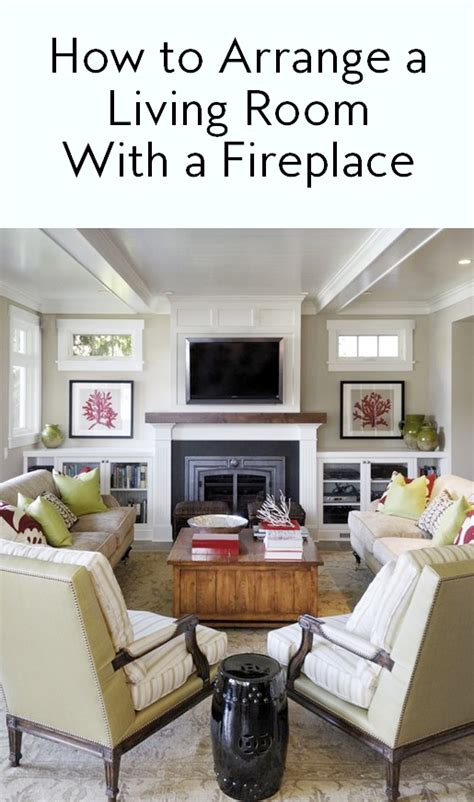How To Arrange Living Room Furniture With Fireplace And Tv How To Arrange A Living Room With A Fireplace Instyle