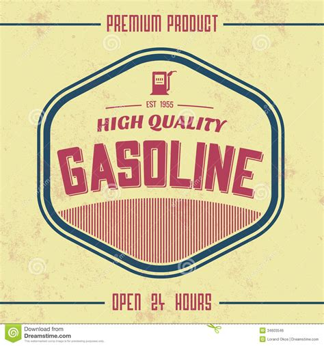 vintage sign templates free vintage gasoline sign retro template royalty free stock