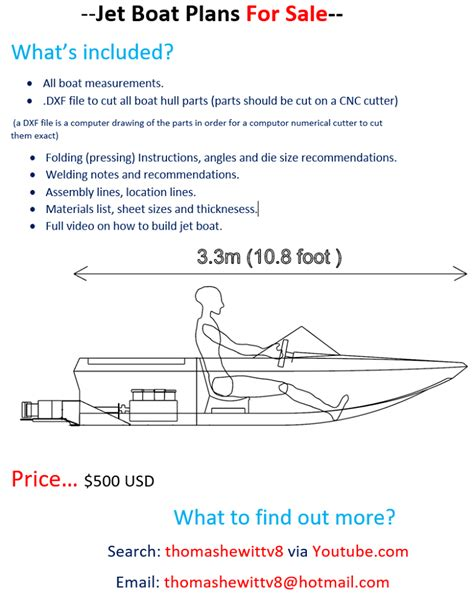mini jet boat plans nz mini jet boat thomas hewitt is now offering plans for