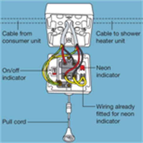 fitting and wiring an electric shower diy tips projects
