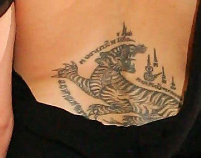 angelina jolie back tattoo tiger meaning angelina jolie inked hollywood s hottest back tattoos