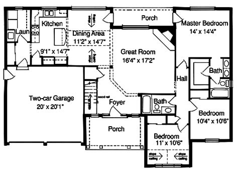 2000 sq ft ranch house plans small house plans under 2000 sq ft house home plans