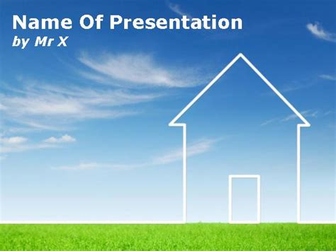 house themes for powerpoint environment ecological house powerpoint template