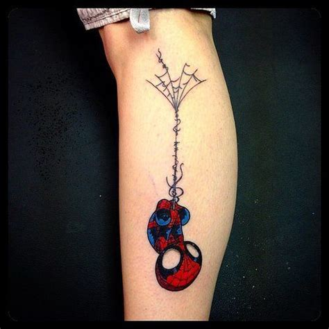 tattoo pages on instagram marvel sleeve men jokes spider man and spider