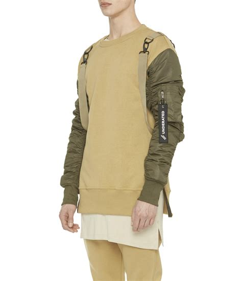 Flight Sweater b13 flight bomber sweater beige olive from underated