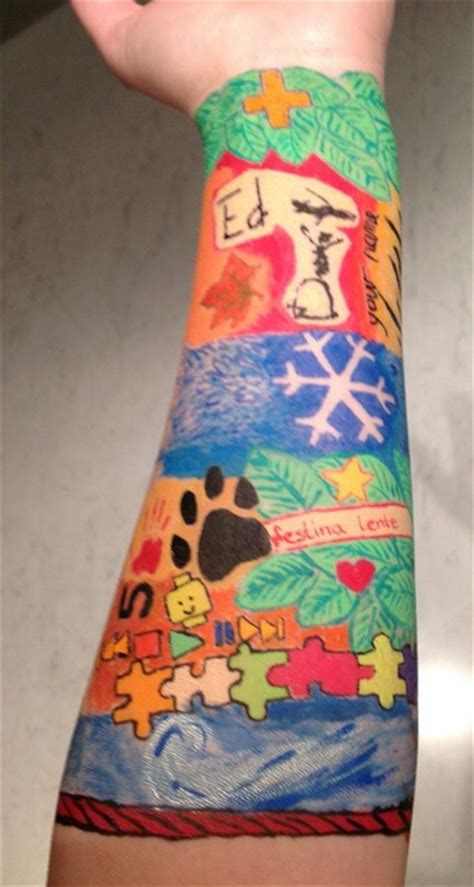 ed sheeran right forearm tattoo self made on tumblr